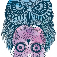 Owl-sugarskull-ink