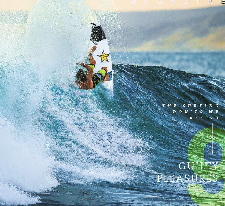 Boardshorts designed by RD on cover of Surfing Magazine ft Clay Marzo