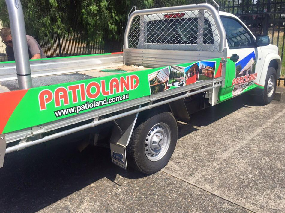 Vehicle signage half wrap 3