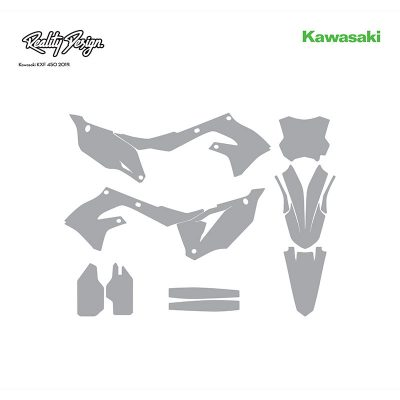 Kawasaki KXF 450 MX Motocross 2019 Graphics Template