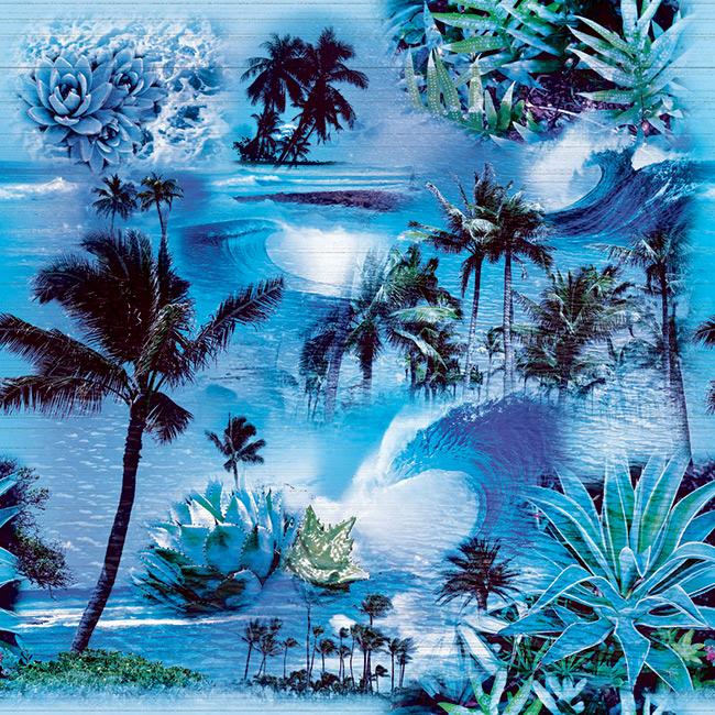 Hawaiian-palms-coral-seamless-2