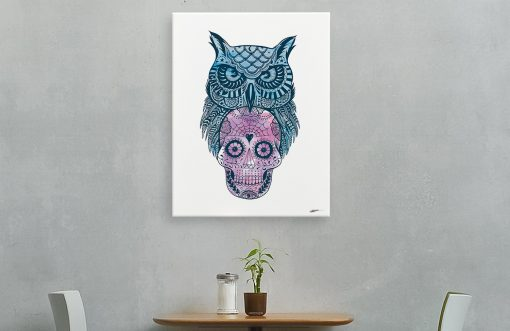 sugar-skull-owl-canvas-reality-design