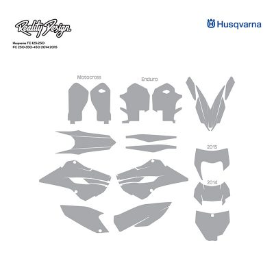 Husqvarna TC 125-250 FC 250-350-450 2014 2015 template