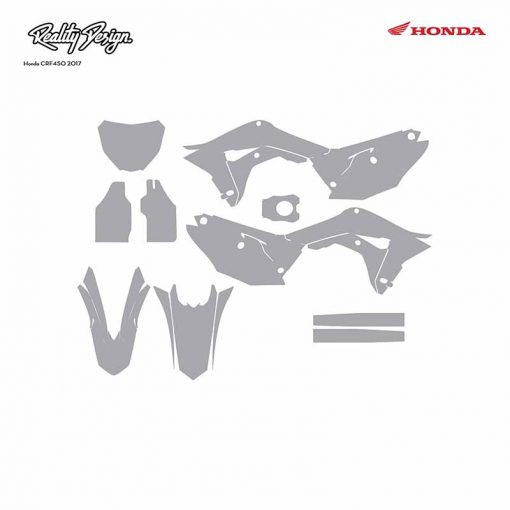 Honda CRF 450 graphic template 2017