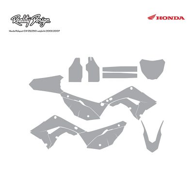Honda Polisport restyle kit CR125 CR250 2002-2007 Graphic Template
