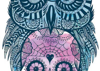 Owl-sugarskull-ink